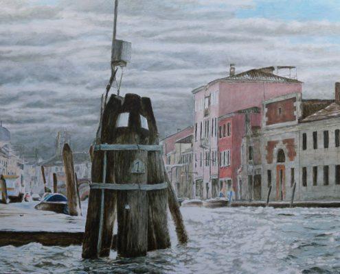 Ölbild: Venedig, Murano, Öl auf HOlz, 45 x 60 cm, 2012