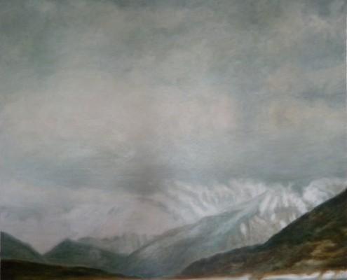Ölbild: Reschensee, 79 x 92 cm, 2008