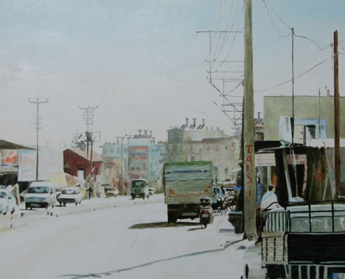 Ölbild: Antalya, Öl auf Holz, 150 x 115 cm, 2009