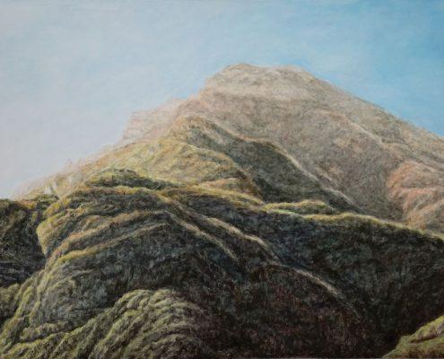 Ölbild: Zwischen Trient und Bozen, 52 x 28 cm, 2015