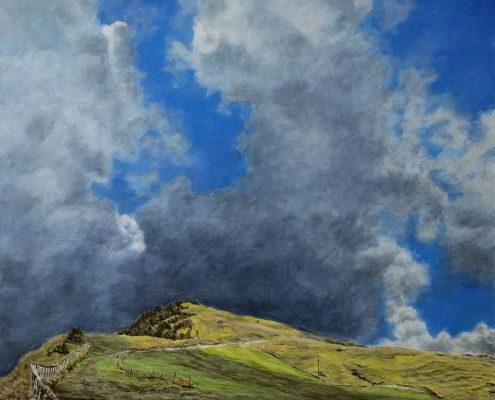 Ölbild: Auf dem Monte Carpegna im September, 2015
