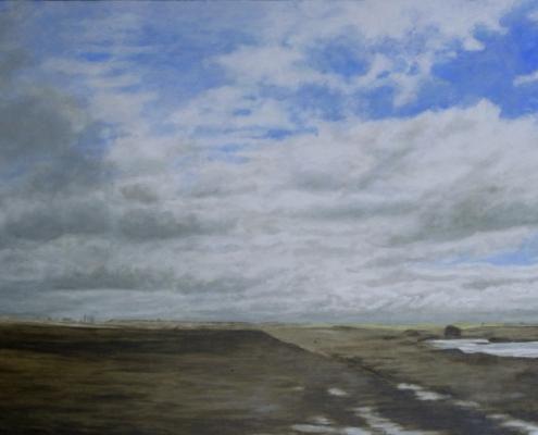 Zwischen Leon und Palencia 1, Öl auf Holz, 53 x 32 cm, 2010