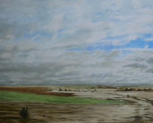 Zwischen Leon und Palencia 2, Ölbild