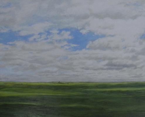 Ölbild, Zwischen Leon und Palencia 3, 2010