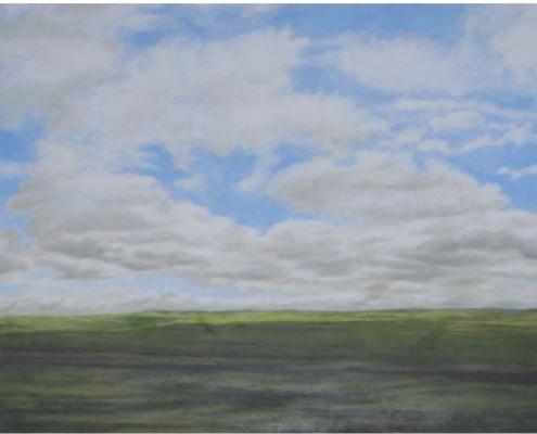 Zwischen Leon und Palencia 4, Öl auf Holz, 53 x 32 cm, 2010