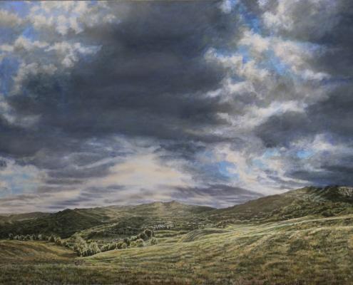 Ölmalerei, Landschaftsbild, Monte Carpegna, Sasso Simone, 2012